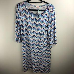 Pixley Stitch Fix Chevron Shirt Dress Size XL
